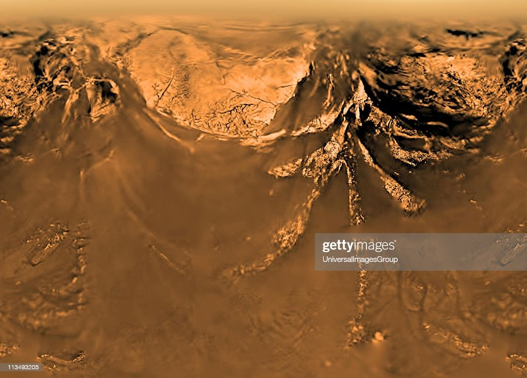 The Huygens probe was delivered to Image of surface of Saturn's moon Titan obtained by the Huyghens probe taken to Titan by the Cassini spacecraft...