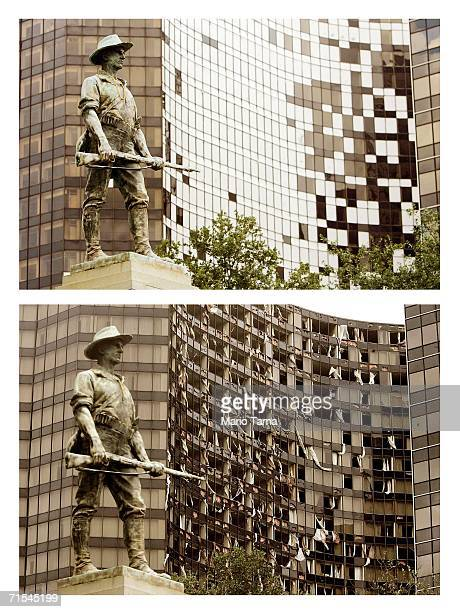 The Hyatt Regency hotel is shown July 19 2006 in New Orleans Louisiana New Orleans residents are struggling to rebuild their city nearly a year after...