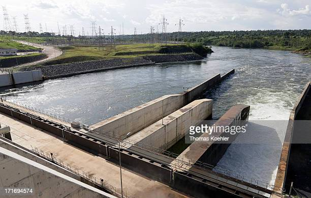 The hydroelectric power station at Bujagali Falls which began supplying the national grid with 250 MW of electricity in 2012 and was partfinanced...