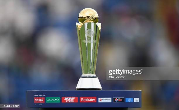 The ICC Champions trophy pictured before the ICC Champions Trophy match between New Zealand and Bangladesh at SWALEC Stadium on June 9 2017 in...