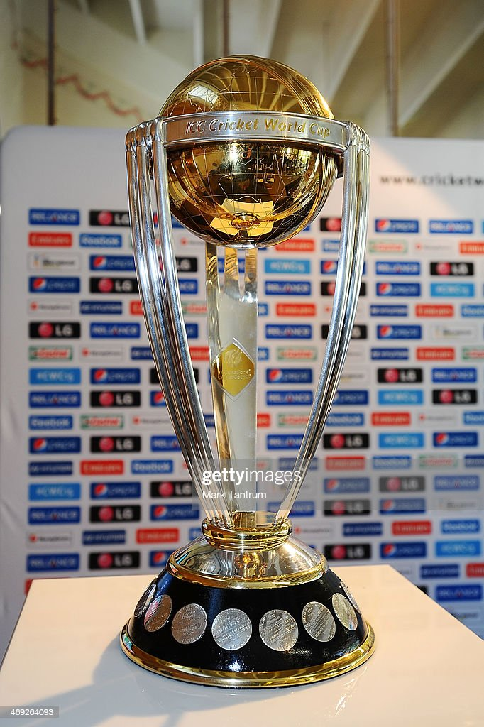 The ICC Cricket World Cup on display as part of the 'One Year To Go' event on February 14, 2014 in Wellington, New Zealand.