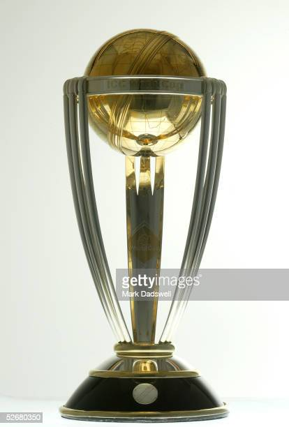The ICC Cricket World Cup Trophy on display during a photo shoot on March 6 2003 held in Melbourne Australia
