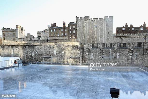The Ice Rink at the Tower of London remains closed on December 23 2015 in London England The attraction is closed due to high winds and unseasonably...
