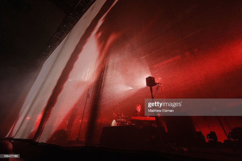 The Icelandic rock band Sigur Ros performs on stage during day 5 of Iceland Airwaves Music Festival at Laugardagshollin on November 4, 2012 in Reykjavik, Iceland.