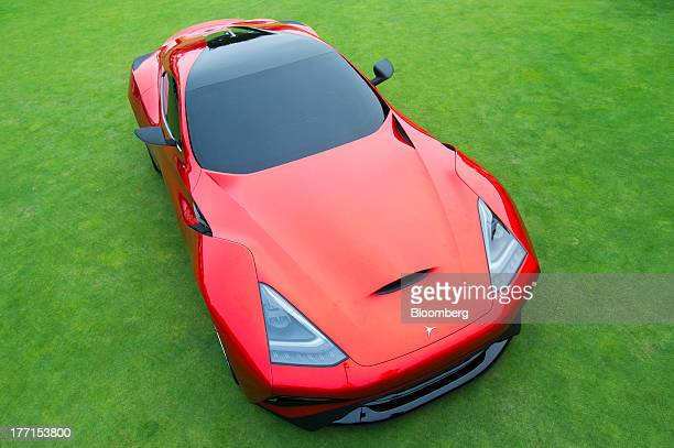 The Icona Vulcano Concept Car is displayed during the 2013 Pebble Beach Concours d' Elegance in Pebble Beach California US on Sunday Aug 18 2013 The...