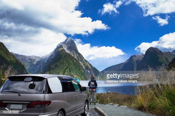The iconic Metre Peak of Milford Sound.