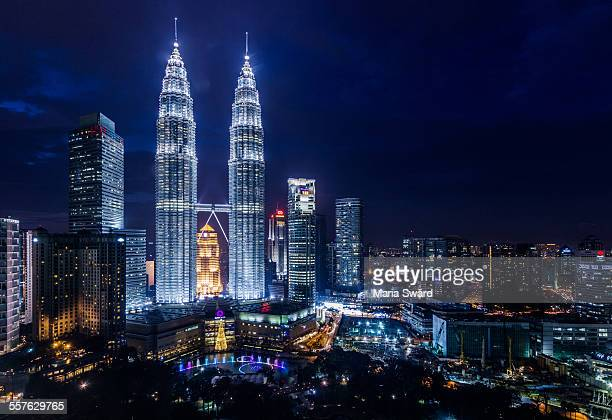 The iconic view over Petronas Towers