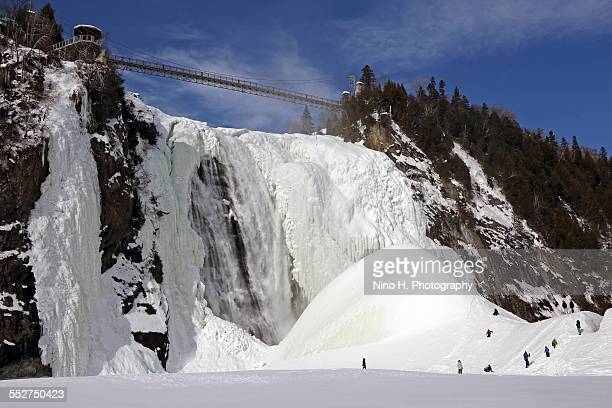 The icy Montmorency falls