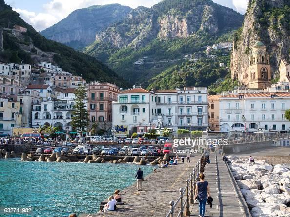 The idyllic village of Amalfi Italy as seen from the break water