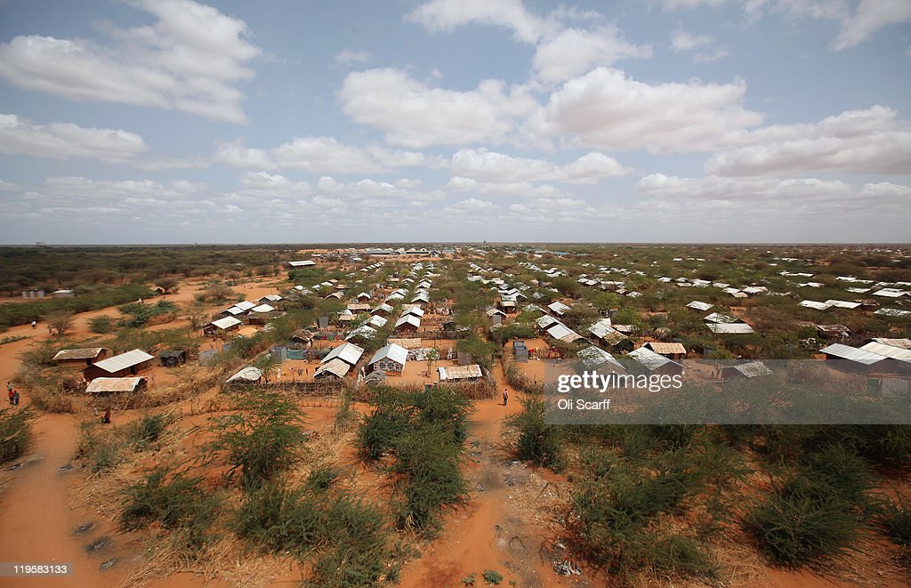 The Ifo refugee camp which makes up part of the giant Dadaab refugee settlement on July 22 2011 in Dadaab Kenya The refugee camp at Dadaab located...