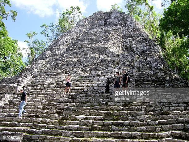 The Iglesia pyramid, Coba maya site, Mexico