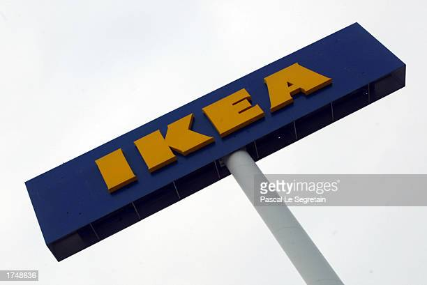 The IKEA logo is shown outside the company's store January 13 2003 in Plaisir Paris