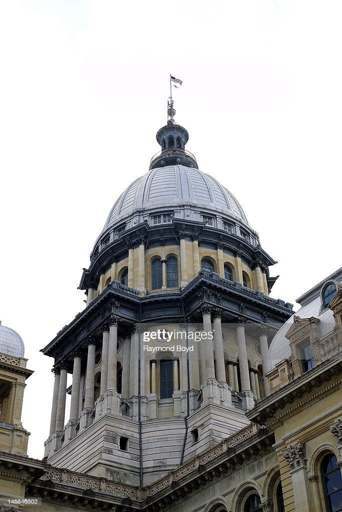 The Illinois State Capitol Building dome in Springfield Illinois on MAY 05 2012