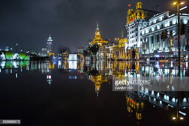 The illuminated Shanghai bund