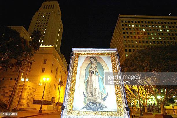 the image of the virgen de guadalupe is carried th