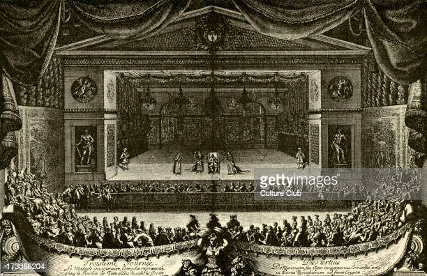 The Imaginary Invalid by Molière Premiere performed for Louis XIV of France and his court 1664 From engraving by Le Pautre dated 1667 M JeanBaptiste...