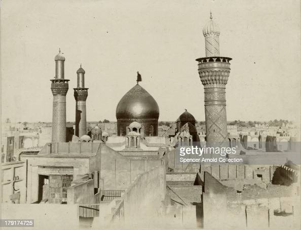 The Imam Husayn Shrine in Karbala Iraq circa 1880 It is one of the oldest mosques in the world and stands on the grave of Hussein ibn Ali a grandson...