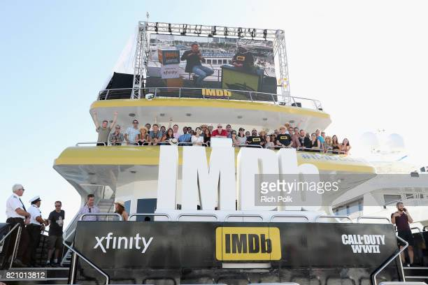 The IMDb crew on the #IMDboat at San Diego ComicCon 2017 at The IMDb Yacht on July 22 2017 in San Diego California