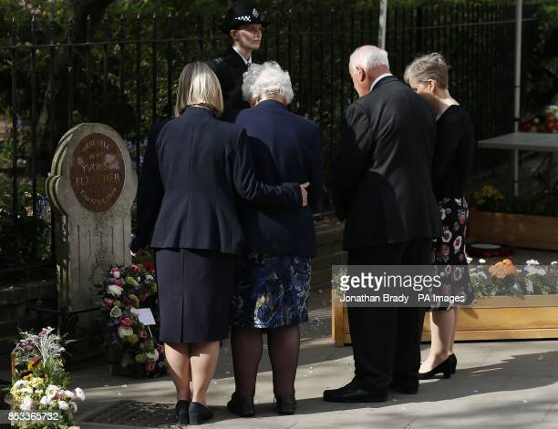 The immediate family of slain police officer Yvonne Fletcher during a memorial service held in St James Square London to mark the thirtieth...