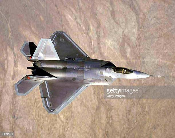 The immediate future of Lockheed Martin Corp's planned F22 jet fighter shown here in this undated Air Force photo is in doubt after a senior Pentagon...