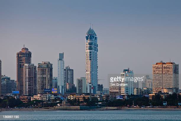 The Imperial Towers twin towers residential skyscrapers and business district development in Tardeo South Mumbai India from Nariman Point