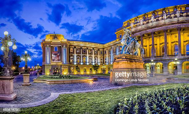 CONTENT] The imposing Buda Castle overlooks the city from its elevated position atop Varhegy rising 48 meters above the Danube