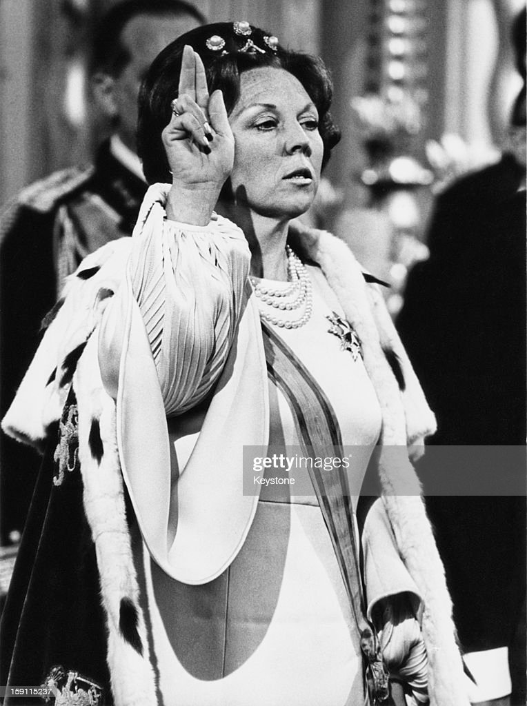 The inauguration of Princess Beatrix of the Netherlands as Queen after the abdication of her mother Queen Juliana, at the New Church or Nieuwe Kerk in Amsterdam on April 30th, 1980.