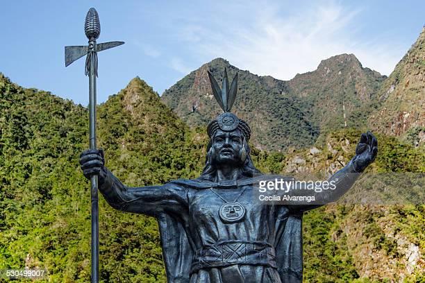 The Inca Pachacutec in Aguas Calientes