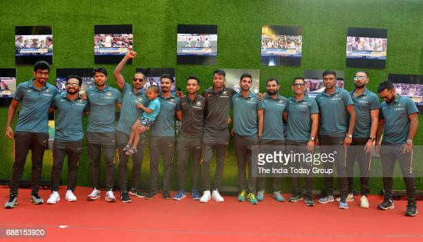 The Indian cricket team players at the screening of Sachin A Billion Dreams in Mumbai