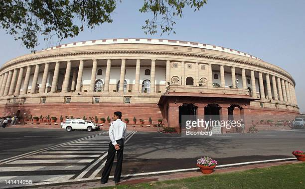The Indian Parliament building stands in New Delhi India on Friday March 16 2012 India's economy is expected to grow at 76% in the year through March...