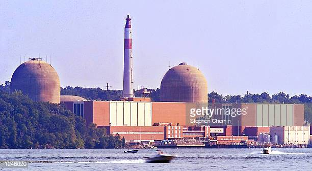 The Indian Point nuclear power plant is seen August 3 2002 in Buchanan New York New York Governor George Pataki has hired James Lee Witt former head...