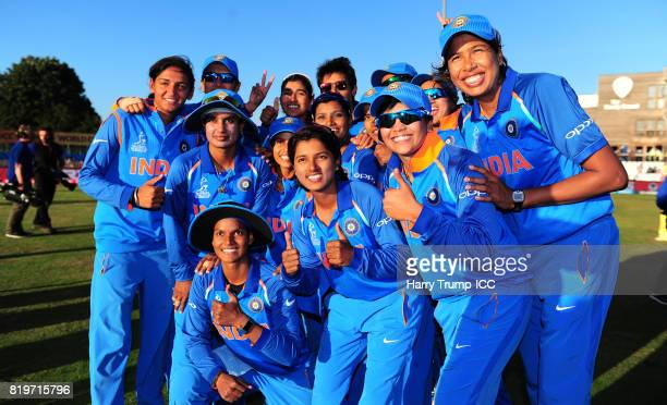 The Indian side pose for a picture during the ICC Women's World Cup 2017 match between Australia and India at The 3aaa County Ground on July 20 2017...