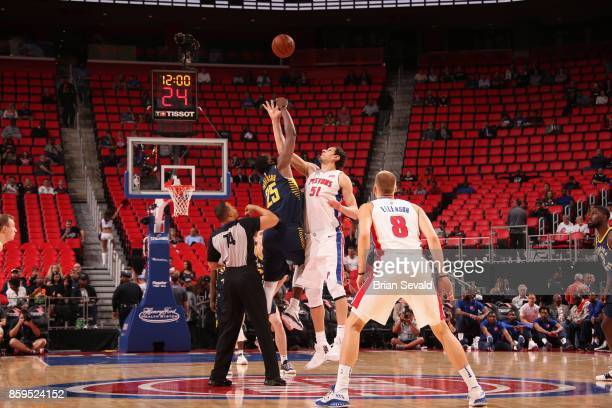 The Indiana Pacers and the Detroit Pistons tipoff on October 9 2017 at Little Caesars Arena in Detroit Michigan NOTE TO USER User expressly...