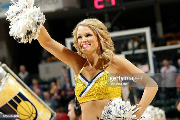 The Indiana Pacers dance team performs during a game against the Phoenix Suns on November 22 2014 at Bankers Life Fieldhouse in Indianapolis Indiana...