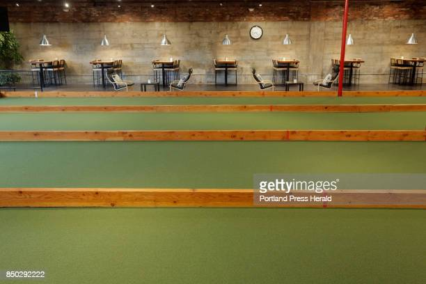 The indoor bocce lanes at 33 in Westbrook photographed on Wednesday September 6 2017 for a review of bowling alleys that serve food