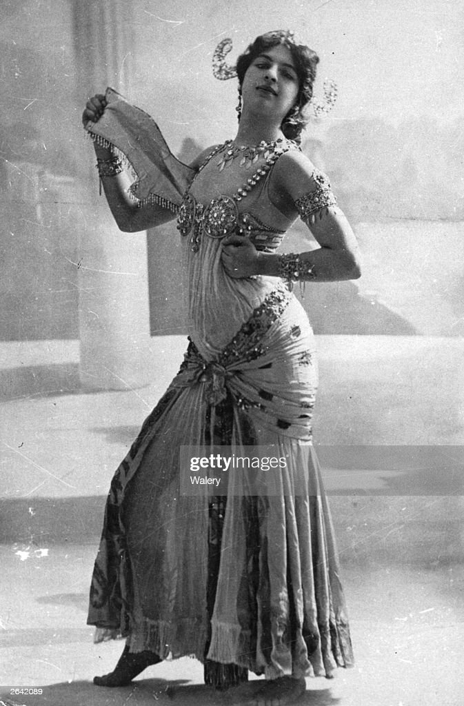 The infamous Dutch spy Mata Hari real name Margarete Geertruida Zelle who was born in Leeuwarden and became a dancer in France is performing the...