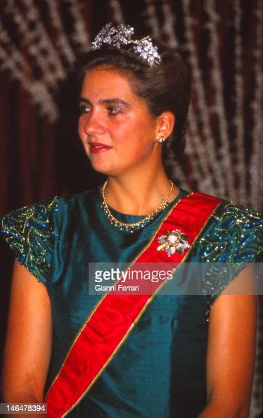 The Infanta Cristina came with her parents the Kings of Spain Juan Carlos and Sofia during their official visit to Thailand 20th November 1987...