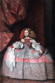 'The Infanta Don Margarita de Austria' c1660 Velázquez began this painting in the year of his death it was finished and partly transformed by his...