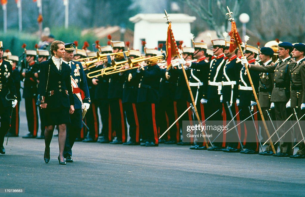 The Infanta Elena, daughter of Spanish Kings Juan Carlos and Sofia, in the swearing-in ceremony of the new Royal Guard, 1995, Madrid, Spain. (Photo by Gianni Ferrari/Cover/Getty Images).