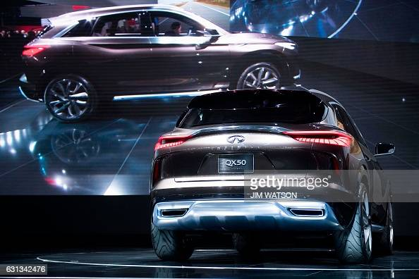 The Infiniti QX50 Concept in unveiled at the Infiniti press conference during the 2017 North American International Auto Show in Detroit Michigan...