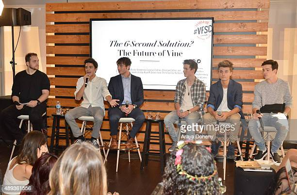 The Influential Network founder Ryan Detert speaks with social media influencers Brent Rivera Wesley Stromberg Crawford Collins Christian Collins and...