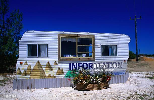 The information centre, well caravan, in Pinnacles Desert