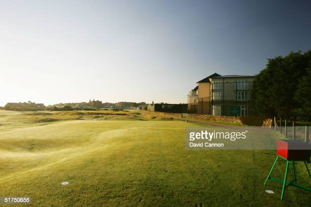 The inimidating tee shot at the par 4 17th hole on the Old Course at St Andrews venue for the 2005 Open Championship on August 21 2004 in St Andrews...