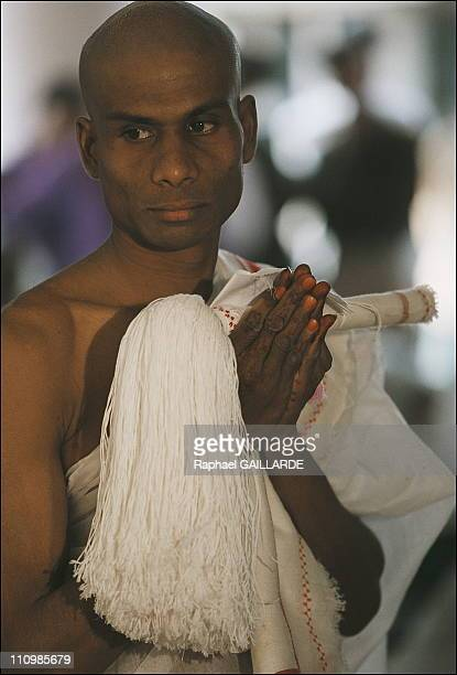 The initiation of a Jain Svetembara novice monk Navalbhai Rathava a 20yearold Jain from Gujerat has renounced all worldly possessions His guru has...