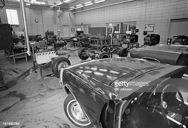 AUG 11 1971 AUG 25 1971 AUG 26 1971 The inmates of the Federal Youth Center near Denver learn engine repair and automotive mechanics in this auto...