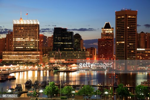 The Inner Harbor of Baltimore, Maryland.