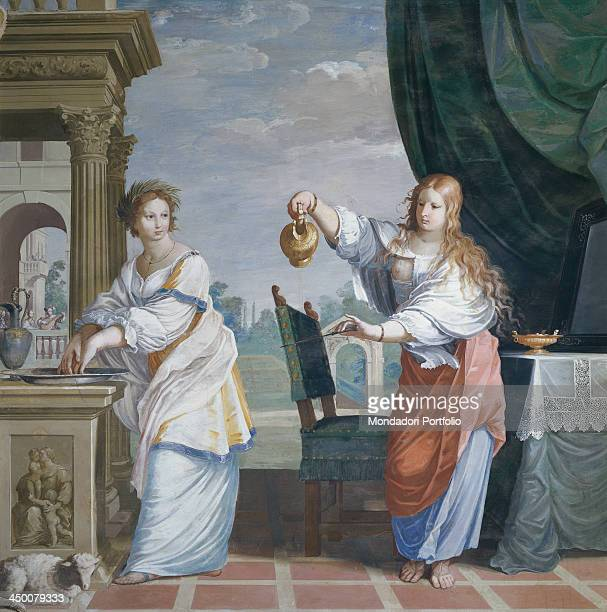 The Innocence washes her hands and the Temperance pours water on the knife by Jean Boulanger 1656 1660 17th Century fresco