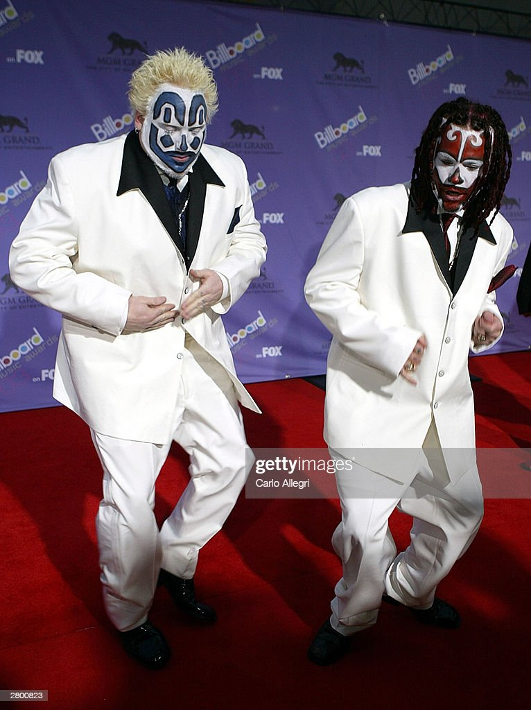 The Insane Clwon Posse attends the 2003 Billboard Music Awards at the MGM Grand Garden Arena December 10, 2003 in Las Vegas, Nevada. The 14th annual ceremony airs live tonight on FOX 8:00-10:00 PM ET Live/PT.