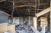 The inside of a looted an torched CVS Pharmacy in Baltimore Maryland April 28 2015 Riot police and National Guard troops stood guard on the...