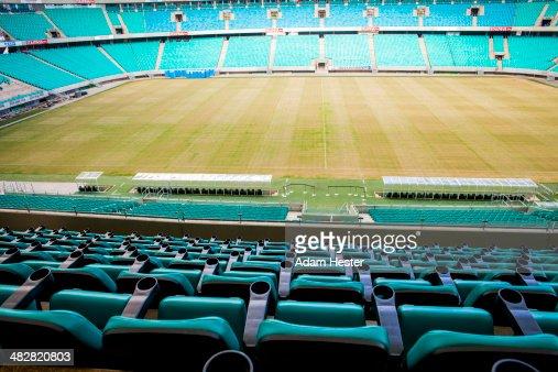 The inside of Arena Fonte Nova in Salvador.